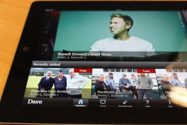 Dave on an iPad