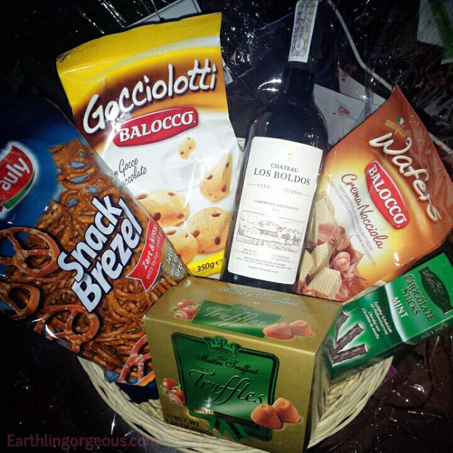 pretzel,cookies, wine,trufflrs,waffer,chocolate sticks