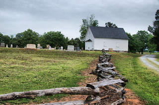 Shiloh Methodist Church with Fence