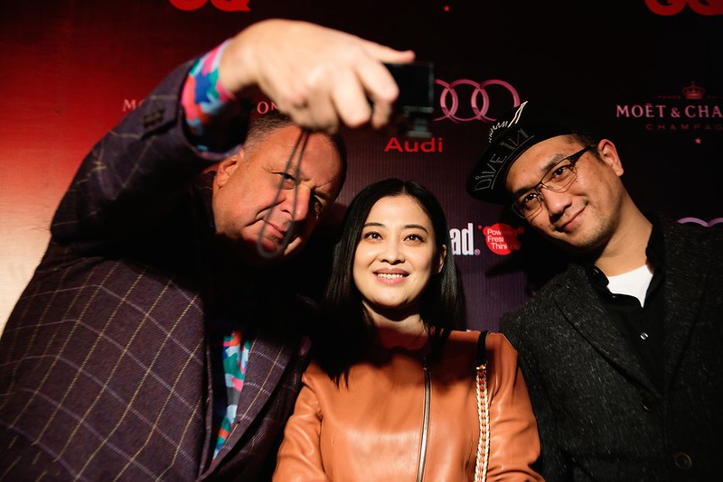 Jean Pigozzi and Mei Ting (actress) and Huang Jue (actor)