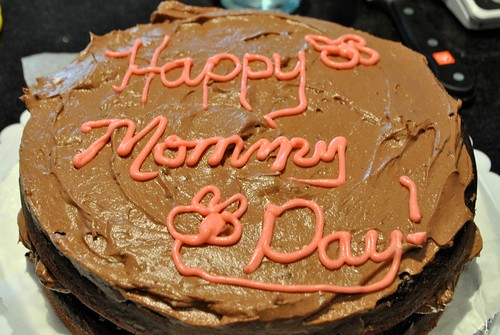 Red Velvet Marble Cake for Mom