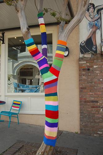 Front St Yarn Bomb - Spring Art Walk 4/13/13
