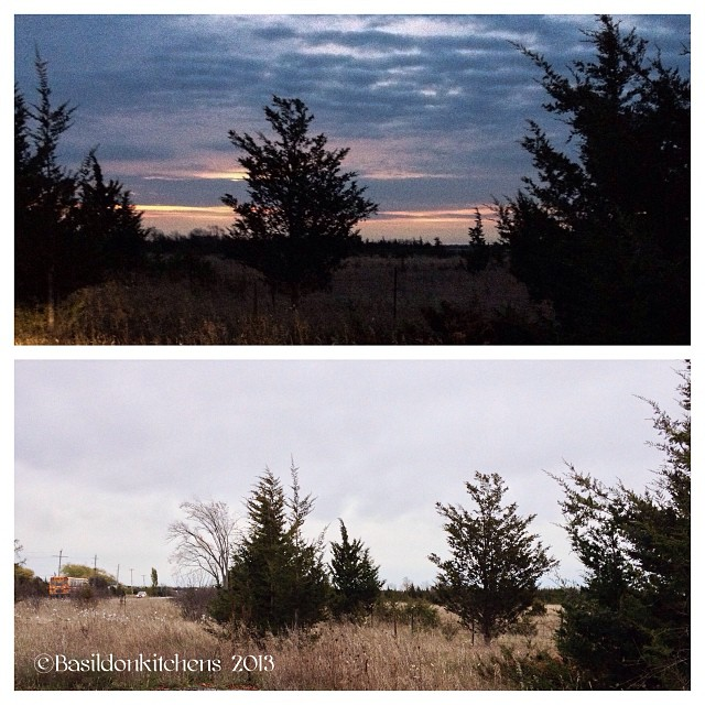 Oct 21 - double take {this us the same spot on my way to & from work; top is @ 7:15 AM; bottom is @ 4:45 PM} I was hoping for more contrast but Mother Nature decided to give me an overcast day. #photoaday #weather #princeedwardcounty #hwy62