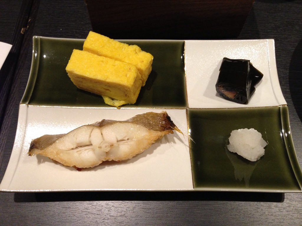 White Fish and Tamago for the Main Course