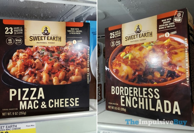 Sweet Earth Natural Foods PIzza Mac & Cheese & Borderless Enchilada