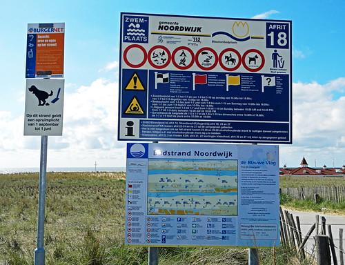 Holland, sign on the beach
