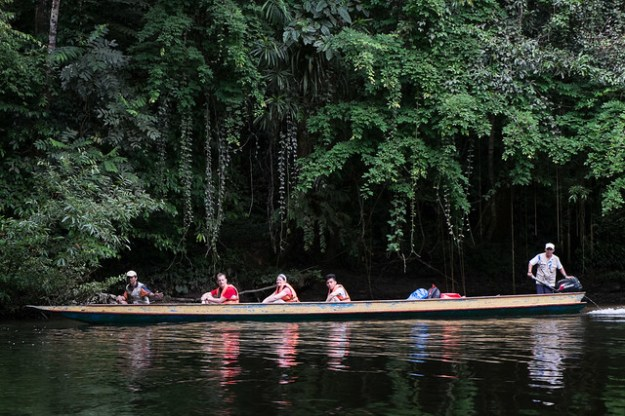 Riverboat. Gunung Mulu