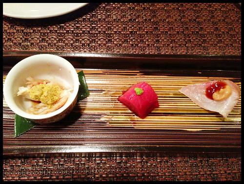 Kegani w/ Kanimiso, Kawagishi Toro, Kanpachi