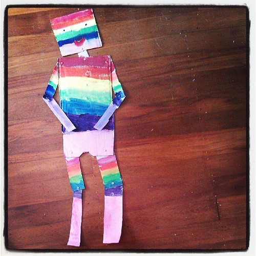 Rainbow robot.
