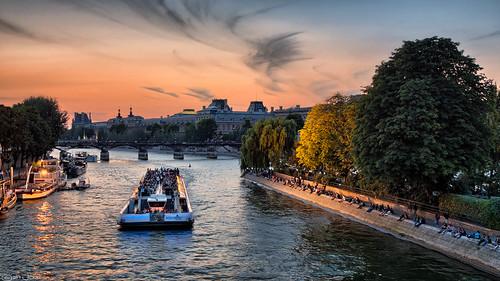 Bateaux Mouches on the Seine, Paris