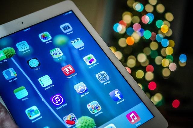 iPad air and bokeh