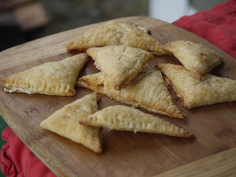 Mozzarella-tomato jam hand pies
