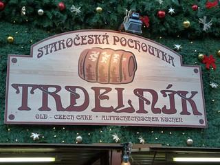 Cartel de Trdelnik (Praga en Navidad)