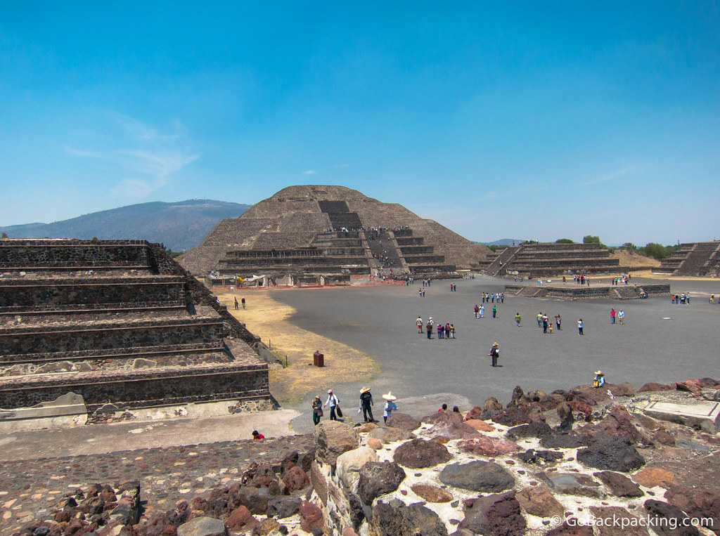 The 46-meter Pyramid of the Moon also contains evidence of human and animal sacrifices
