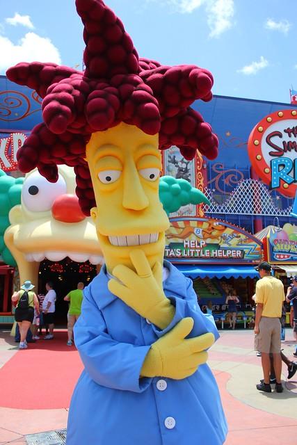 Sideshow Bob and Krusty the Clown at Universal Orlando