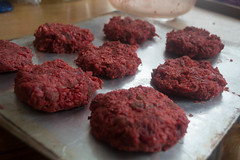 Shaped Persian Beet Vegetarian Burgers