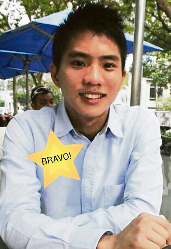 Whistle-blowing Singapore hero, Yang Jie Xiang (image via Lianhe Wanbao)