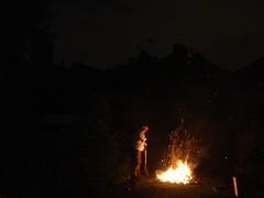 bonfire in backgarden