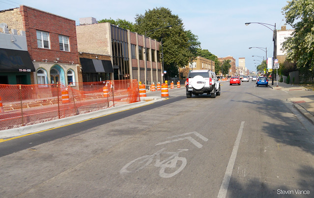 Lawrence Avenue streetscape and road diet construction