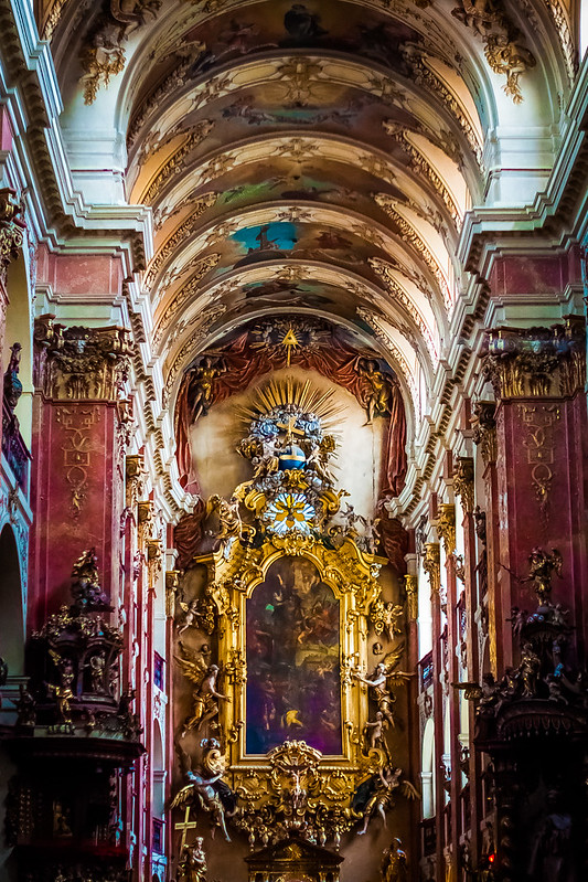 Interior of St. James Church, Prague