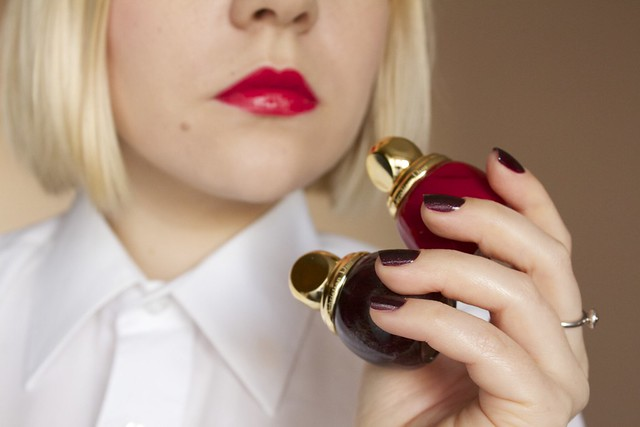 02 Chanel Rouge Allure #14 Passion + Dior Diorific #995 Minuit