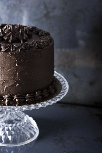 Chocolate cake with divine chocolate frosting