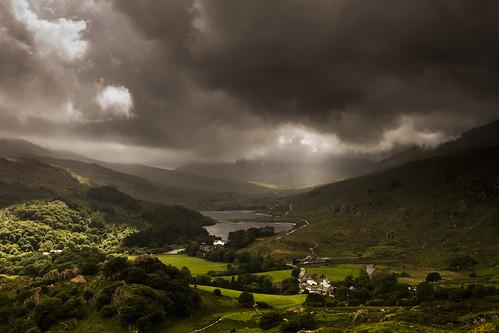 Welsh Summer - Capel Curig and Dyffryn Mymbyr from Clogwyn Mawr