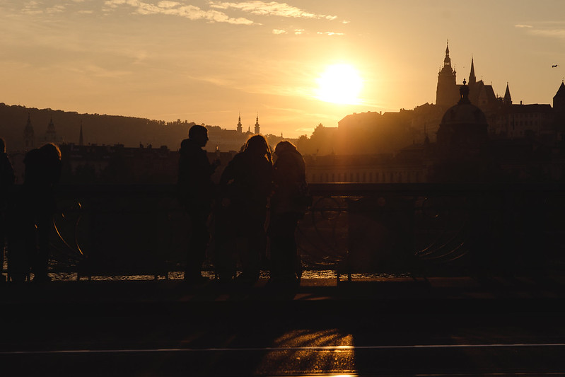 Sunset at Prague.