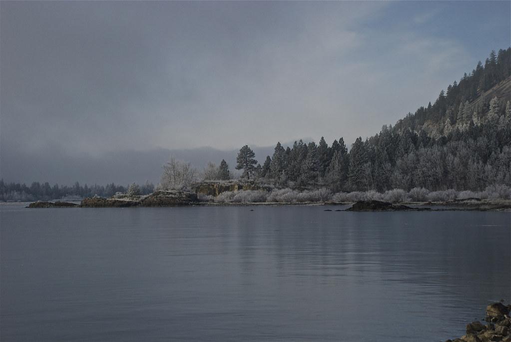 Rainbow Lake; frozen