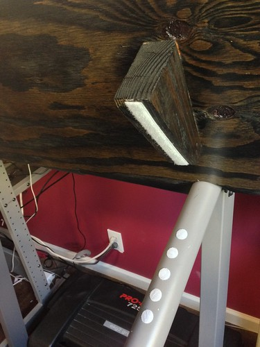 Treadmill desk attached
