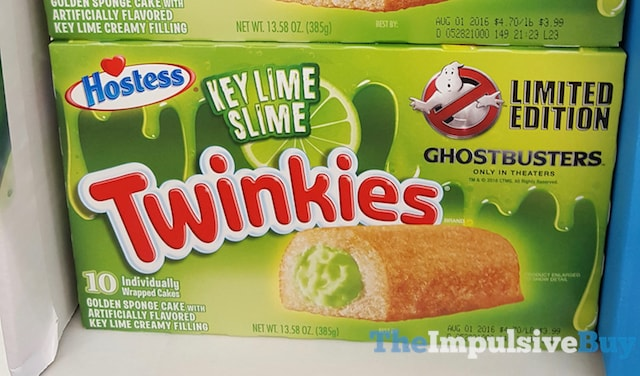 Hostess Limited Edition Ghostbusters Key Lime Slime Twinkies