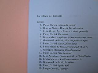 Joseph Conrad, Suspence. il canneto editore 2013. progetto grafico di Paroledavendere, Art Director: Camilla Salvago Raggi. Elenco uscite collana (part.), 1