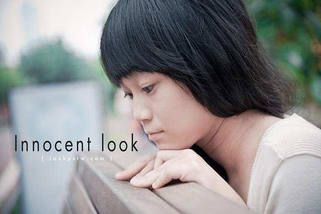Innocent look girl