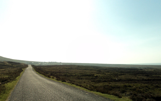 Open road in Ireland.