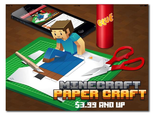 Minecraft app paper craft