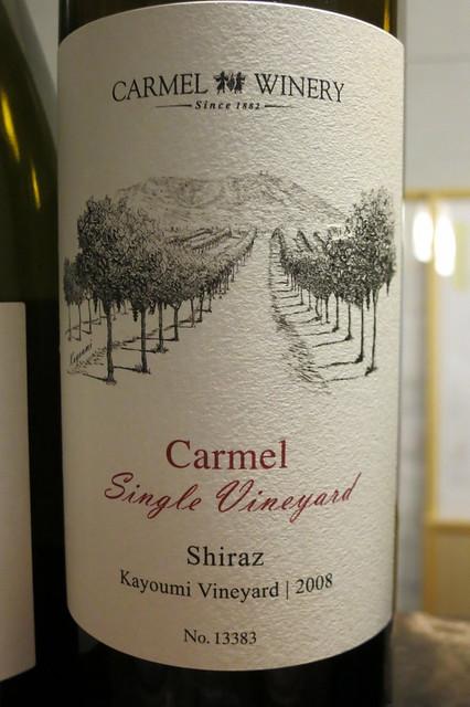 Carmel Winery 2008 Carmel Single Vineyard Shiraz