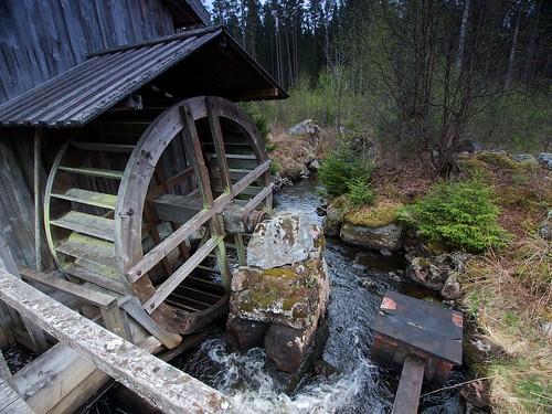 Waterwheel Skivebo Kvarn