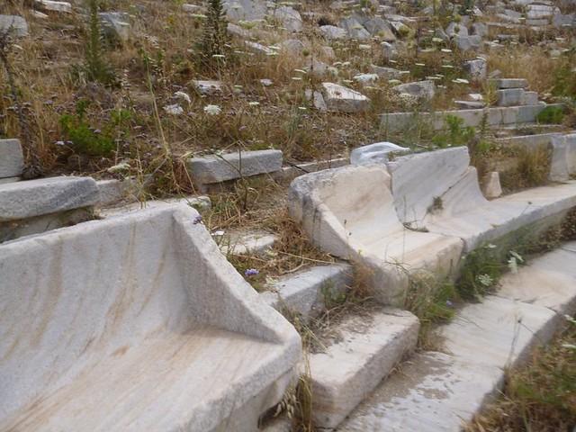 Theater seats on Delos island