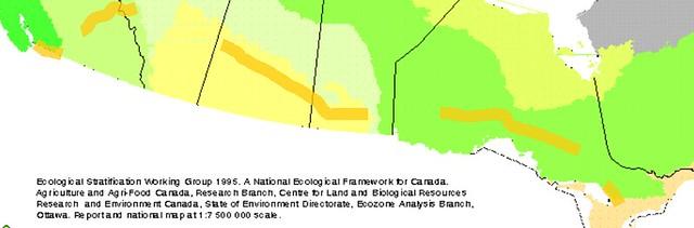 Vancouver to Toronto Ecozones