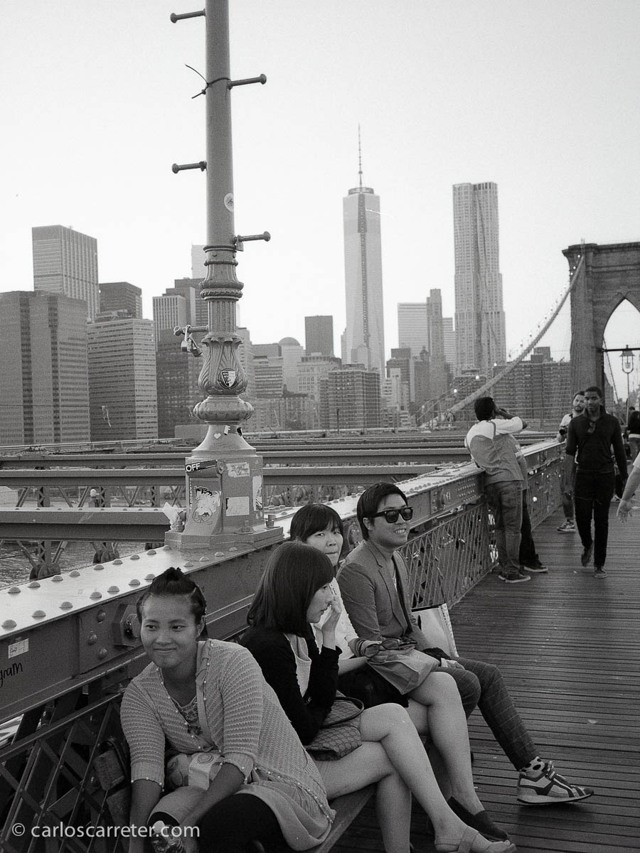 En el puente de Brooklyn