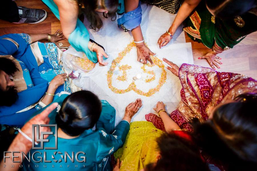 Preparing for the Ismaili wedding ceremony