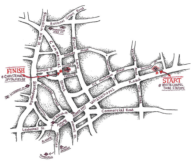 Whitechapel map with names