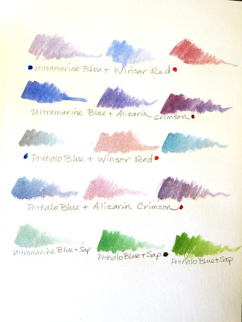 Watercolor Mixes, Part 2