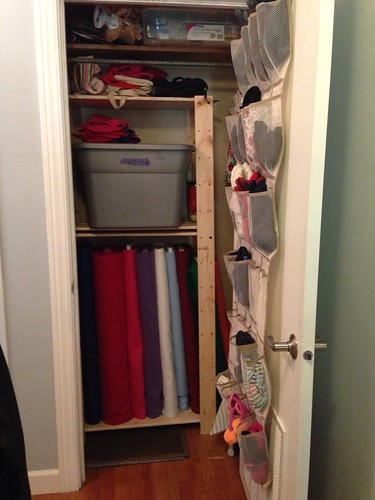 Hall closet after