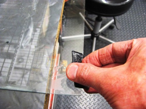 Removing Sharp Edge of Glass Plate