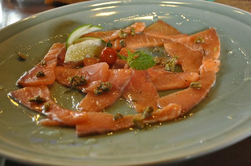 Salmon Calpacho/Carpaccio