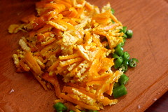 Cut orange peel
