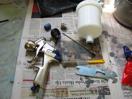 Disassembled HVLP Gun After Cleaning