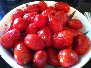 blanched roma tomatoes