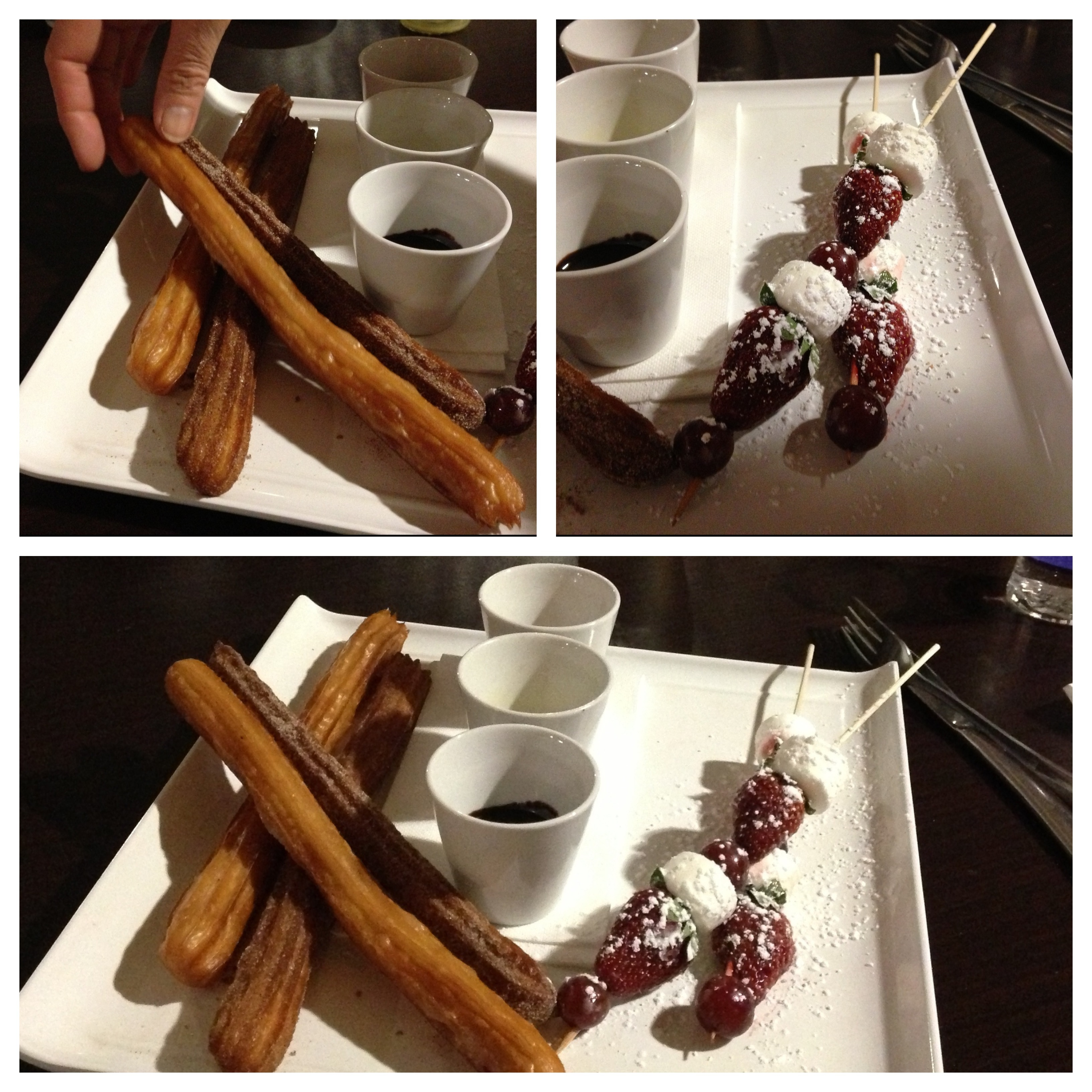 Churros and fruit